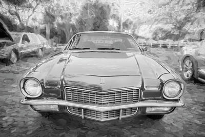 Photograph - 1971 Chevrolet Camaro Bw C128 by Rich Franco