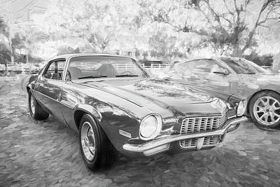 Photograph - 1971 Chevrolet Camaro Bw C129 by Rich Franco