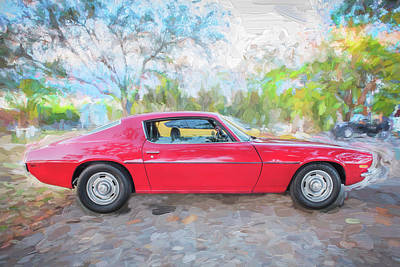 Photograph - 1971 Chevy Camaro C126  by Rich Franco