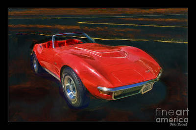 1971 Chevy Corvette Lt1 Art Print by Blake Richards
