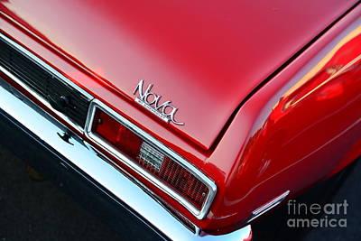 Art Dealer Photograph - 1971 Chevy Nova - Red by Paul Ward