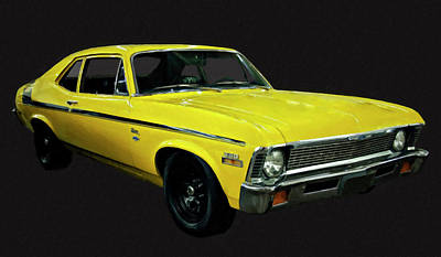 Painting - 1971 Chevy Nova Yenko Deuce Digital Oil by Chris Flees