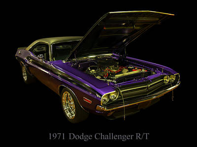 1971 Dodge Challenger Art Print by Chris Flees