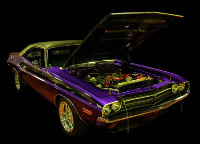 Painting - 1971 Dodge Challenger R/t Digital Oil by Chris Flees