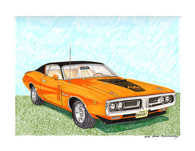 Painting - 1971 Dodge Charger R T by Jack Pumphrey