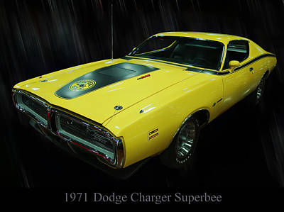 1971 Dodge Charger Superbee Art Print by Chris Flees