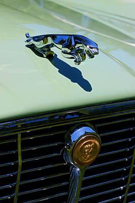 Photograph - 1971 Jaguar Xj-6 Hood Ornament And Grill by Allen Beatty
