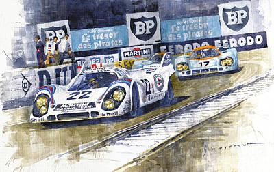 1971 Le Mans Winner 24 Porsche 917k #22 Original