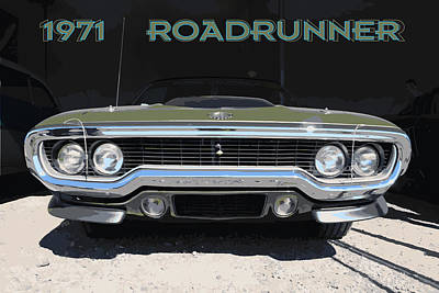 Roadrunner Drawing - 1971 Roadrunner by Darrell Foster