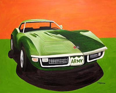 1971stingray-army Art Print