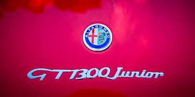Photograph - 1972 Alfa Romeo Gt 1300 Junior Unificato Emblem -0875c by Jill Reger