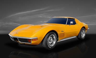 Street Rod Photograph - 1972 C3 Chevrolet Corvette by Frank J Benz