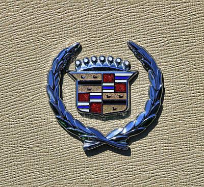 Photograph - 1972 Cadillac Eldorado Hood Crest Emblem by Allen Beatty