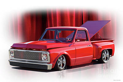 Photograph - 1972 Chevrolet C10 Pickup 'curtain Call' by Dave Koontz