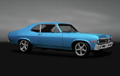 Photograph - 1972 Chevrolet Nova Super Sport  -  1972novasupersportgry170749 by Frank J Benz