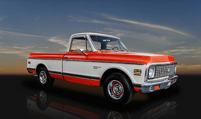1972 Chevy Custom 10 Deluxe Pickup Art Print