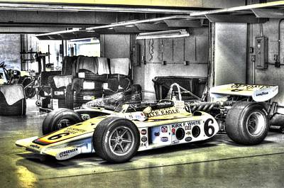 Indy Car Photograph - Bobby Unser 1972 Olsonite Eagle Pole Position Car  by Josh Williams