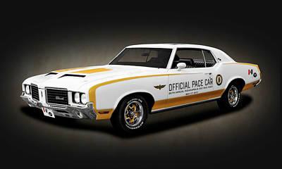 Photograph - 1972 Hurst Olds Pace Car   -   1972hurstoldsdkspottexture169441 by Frank J Benz