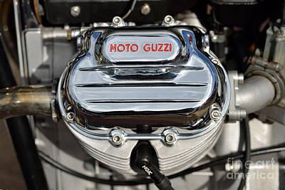 Motorcycle Painting - 1972 Moto Guzzi V7 Cylinder Head by George Atsametakis