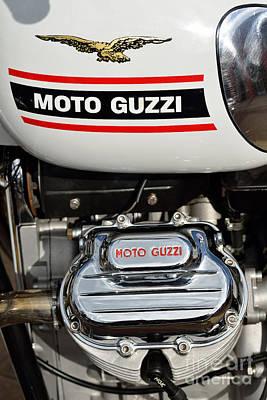 Logo Photograph - 1972 Moto Guzzi V7 by George Atsametakis