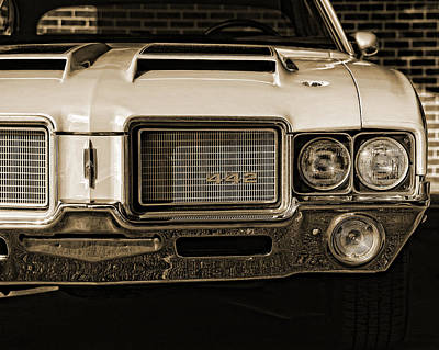 Chrome Bumper Photograph - 1972 Olds 442 - Sepia by Gordon Dean II