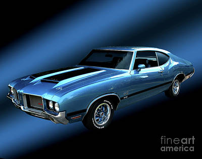 1972 Olds 442 Print by Peter Piatt