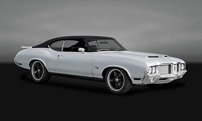 Photograph - 1972 Oldsmobile Cutlass  -  37oldscutlassgry0037 by Frank J Benz