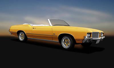 Photograph - 1972 Oldsmobile Cutlass Convertible  -  11972oldsmobilecutlasscvcpy185954 by Frank J Benz