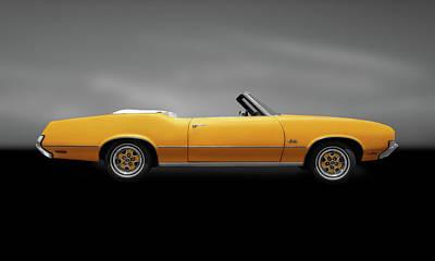 Photograph - 1972 Oldsmobile Cutlass Convertible  -  1972oldscutlassconvertgraycpya185955 by Frank J Benz
