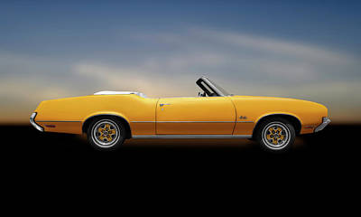 Photograph - 1972 Oldsmobile Cutlass Convertible  -  1972oldsmobilecutlassconvertcpya185955 by Frank J Benz