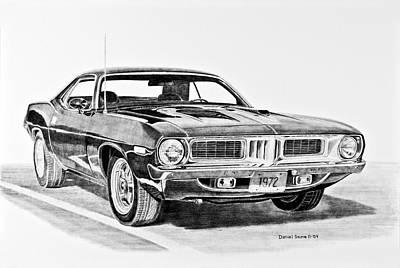 1972 Plymouth Barracuda Print by Daniel Storm
