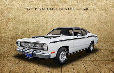 Photograph - 1972 Plymouth Duster 340 - 1 by Frank J Benz