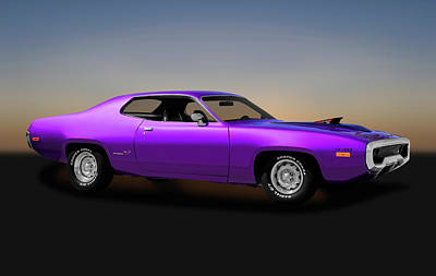 Photograph - 1972 Plymouth Road Runner 440 Air Grabber  -  1972440roadrunner170818 by Frank J Benz