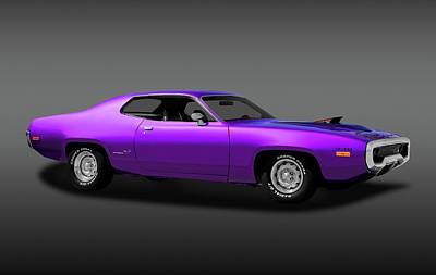 Photograph - 1972 Plymouth Road Runner 440 Air Grabber  -  72440roadrunnerfa170818 by Frank J Benz