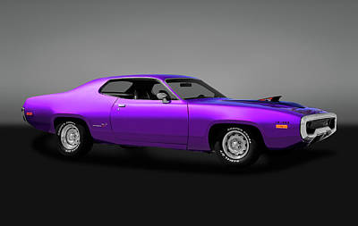 Photograph - 1972 Plymouth Road Runner 440 Air Grabber  -  72roadrunner440170818gry by Frank J Benz