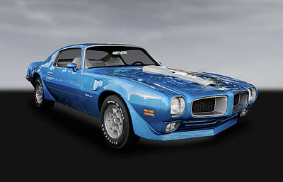 Photograph - 1972 Pontiac Firebird Trans Am 455  -  72pontfibdbw005 by Frank J Benz