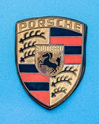 1972 Porsche 911s Emblem - 0584c45 Art Print by Jill Reger