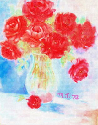 Mixed Media - 1972 Roses by Monique Montney