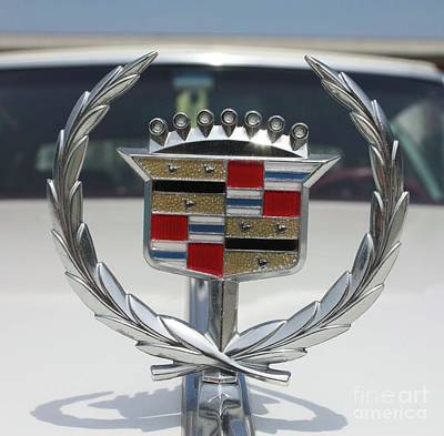 Photograph - 1973 Cadillac Coupe De Ville Hood Ornament by John Telfer