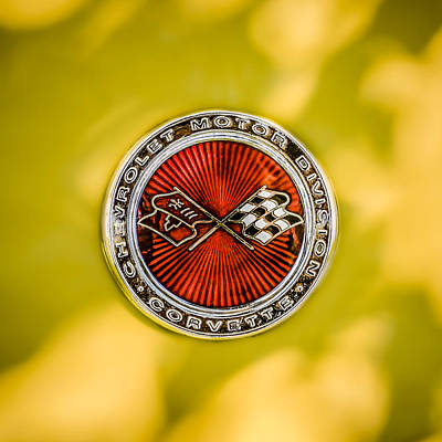 Photograph - 1973 Chevrolet Corvette Emblem  -0254c by Jill Reger