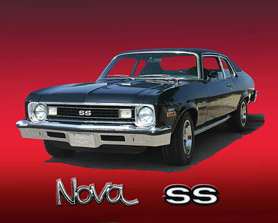 Photograph - 1973 Chevrolet Nova Ss 350 by Jack Pumphrey