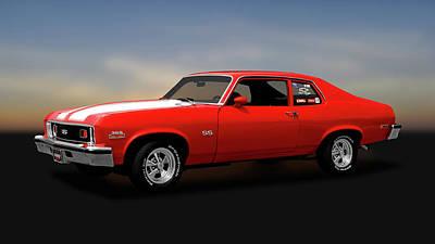 Photograph - 1973 Chevrolet Nova Super Sport 350   -   1973chevynovass350170479 by Frank J Benz