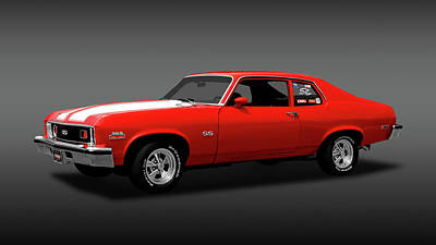 Photograph - 1973 Chevrolet Nova Super Sport 350  -  1973chevyss350fa170479 by Frank J Benz