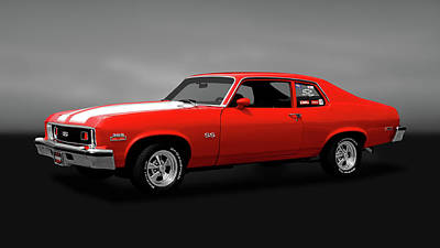 Photograph - 1973 Chevrolet Nova Super Sport 350   -   1973chevyssgry170479 by Frank J Benz