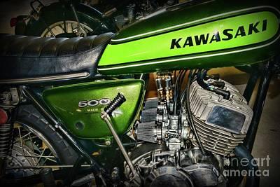 Photograph - 1973 Kawasaki H1d 500cc Mach 3  by Paul Ward
