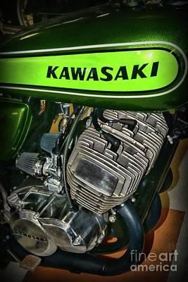 Photograph - 1973 Kawasaki H1d 500cc Mach 3 Profile by Paul Ward