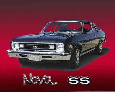 Photograph - 1973 Nova S S 350 by Jack Pumphrey