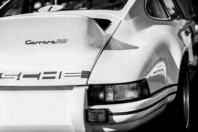 Photograph - 1973 Porsche 911 Rs Carrera Taillight -1410bw by Jill Reger
