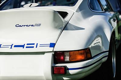 Photograph - 1973 Porsche 911 Rs Carrera Taillight -1410c by Jill Reger