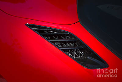 Photograph - 1974 Chevrolet Corvette Red Air Vent Color Photograph 3470.02 by M K Miller